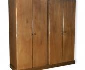 Ropero 4 puertas madera barnizada