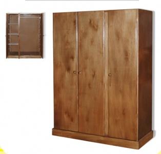 Ropero 3 puertas madera lustrada