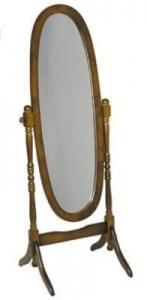 Espejo oval - marco de madera