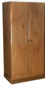 Ropero 2 puertas madera lustrado